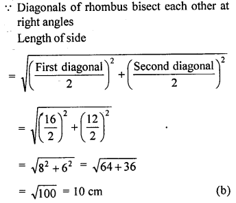 ML Aggarwal Class 9 Solutions for ICSE Maths Chapter 12 Pythagoras Theorem     mcq3a