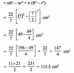 RD Sharma Class 10 Solutions Chapter 13 Areas Related to Circles Ex 13.4 - 35a