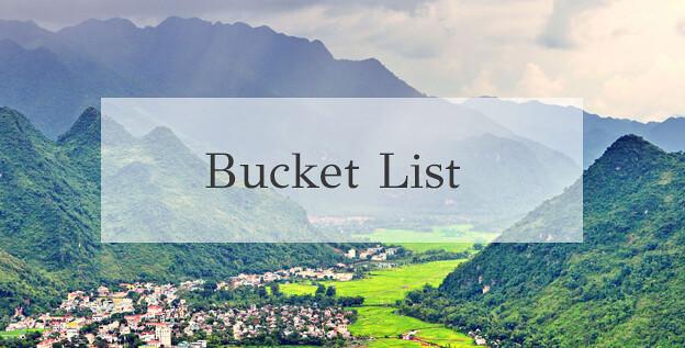 Mai chau Bucket list