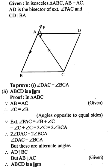 ML Aggarwal Class 9 Solutions for ICSE Maths Chapter 13 Rectilinear Figures  ct 2