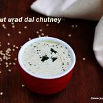 Coconut chutney with urad dal