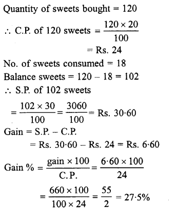 Selina Concise Mathematics class 7 ICSE Solutions - Profit, Loss and Discount-a8