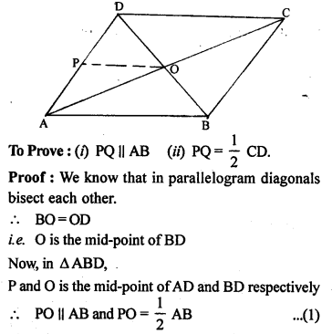 ML Aggarwal Class 9 Solutions for ICSE Maths Chapter 11 Mid Point Theorem    4