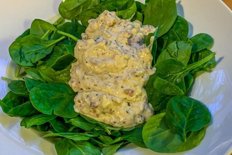 Salat vom Blattspinat