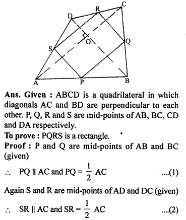 ML Aggarwal Class 9 Solutions for ICSE Maths Chapter 11 Mid Point Theorem    ct 2