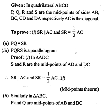 ML Aggarwal Class 9 Solutions for ICSE Maths Chapter 11 Mid Point Theorem    5a
