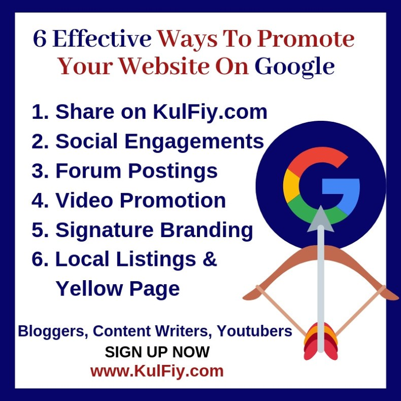 How to promote a website on google Kulfiydotcom
