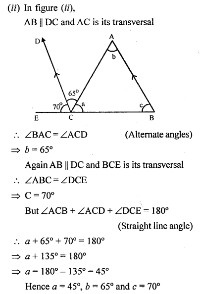 Selina Concise Mathematics Class 6 ICSE Solutions - Properties of Angles and Lines (Including Parallel Lines)-r2s.