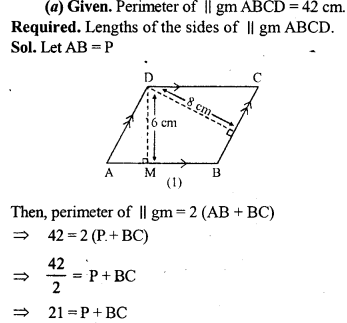 ML Aggarwal Class 9 Solutions for ICSE Maths Chapter 14 Theorems on Area    15a