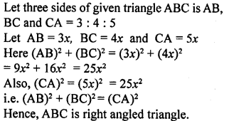 ML Aggarwal Class 9 Solutions for ICSE Maths Chapter 12 Pythagoras Theorem     6