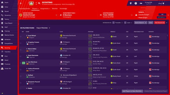 Football Manager 19 - Scouting