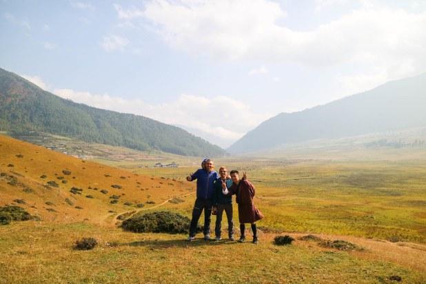 Senderismo en el valle de Phobjikha