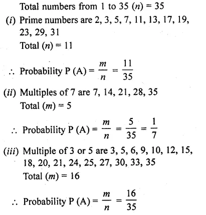 RD Sharma Class 10 Solutions Pdf Free Download Chapter 13 Probability