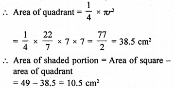 RD Sharma Class 10 Solutions Chapter 13 Areas Related to Circles Ex 13.4 - 21a