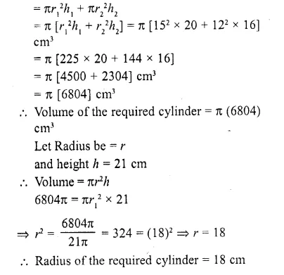 RD Sharma Class 10 Solutions Chapter 14 Surface Areas and Volumes  RV 7