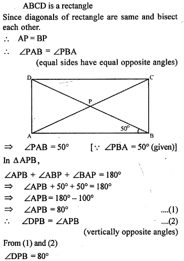 ML Aggarwal Class 9 Solutions for ICSE Maths Chapter 13 Rectilinear Figures  ex 6