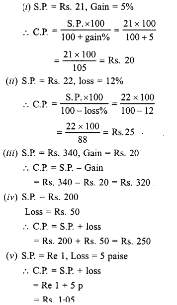 Selina Concise Mathematics class 7 ICSE Solutions - Profit, Loss and Discount-b1