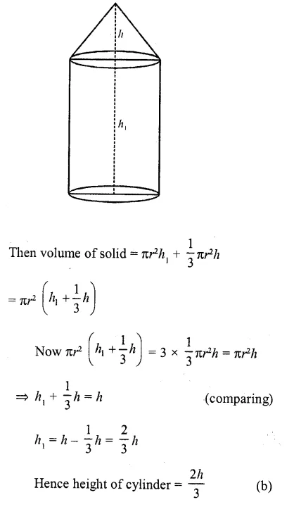 RD Sharma Class 10 Solutions Chapter 14 Surface Areas and Volumes MCQS 12A