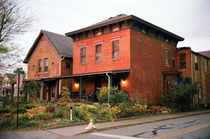 Sunrise houses on Meridian Street