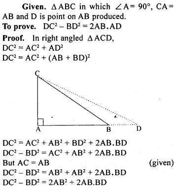 ML Aggarwal Class 9 Solutions for ICSE Maths Chapter 12 Pythagoras Theorem     25