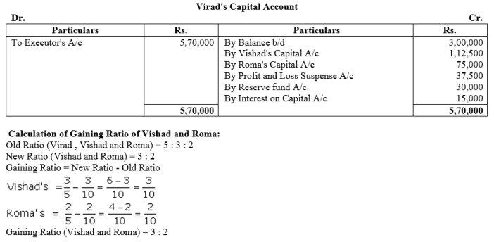 TS Grewal Accountancy Class 12 Solutions Chapter 5 Retirement Death of a Partner Q71