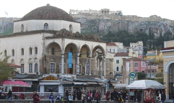 Piața Monastiraki, Atena, Grecia