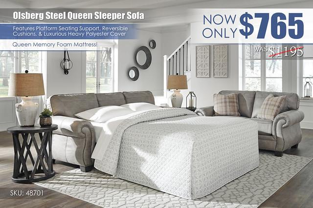 Olsberg Steel Sleeper Sofa_48701-39_update