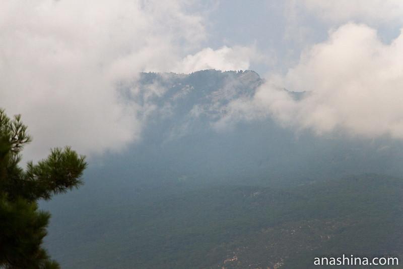 Облака над горами, Ялта, Крым