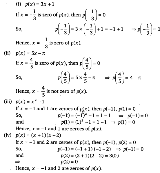 NCERT Solutions for Class 9 Maths Chapter 2 Polynomials 1