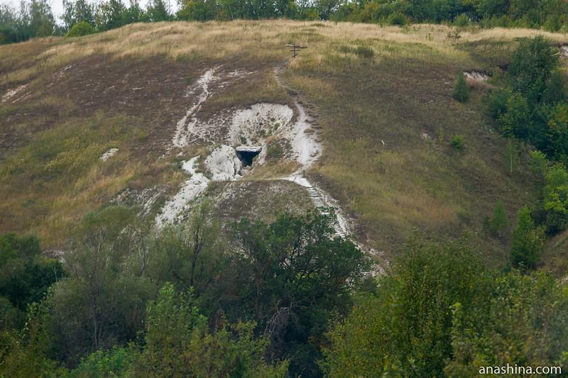 Вход в пещеру, село Пески, Воронежская область