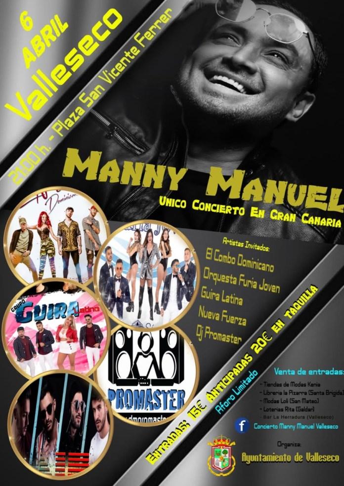 Valleseco acoge el único concierto de Manny Manuel en Gran Canaria