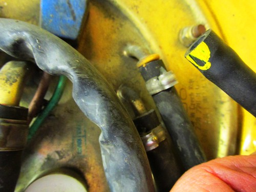 Vent Line Has Yellow Marking Matching Yellow Insert On Tank End