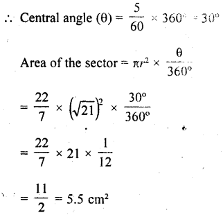 RD Sharma Class 10 Solutions Chapter 13 Areas Related to Circles Ex 13.2 - 15