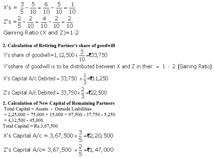 TS Grewal Accountancy Class 12 Solutions Chapter 5 Retirement Death of a Partner Q51.2