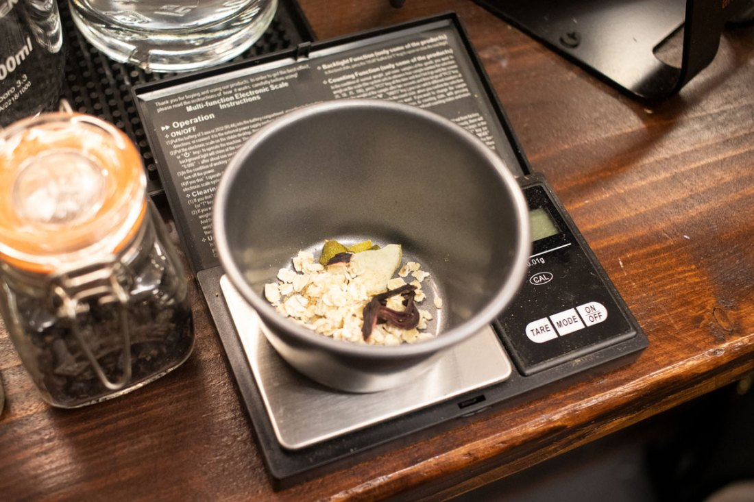 Measuring-Ingredients-Gin-Making-Experience-Manchester