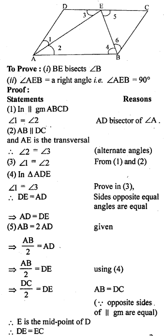 ML Aggarwal Class 9 Solutions for ICSE Maths Chapter 13 Rectilinear Figures  ex 18a