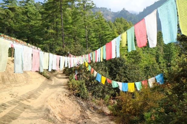 Banderas en Bután