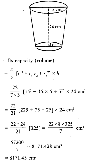 RD Sharma Class 10 Solutions Chapter 14 Surface Areas and Volumes  RV 58