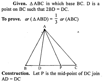 ML Aggarwal Class 9 Solutions for ICSE Maths Chapter 14 Theorems on Area    ct pq2