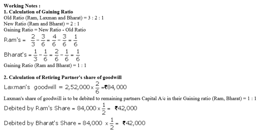 TS Grewal Accountancy Class 12 Solutions Chapter 5 Retirement Death of a Partner Q32.1