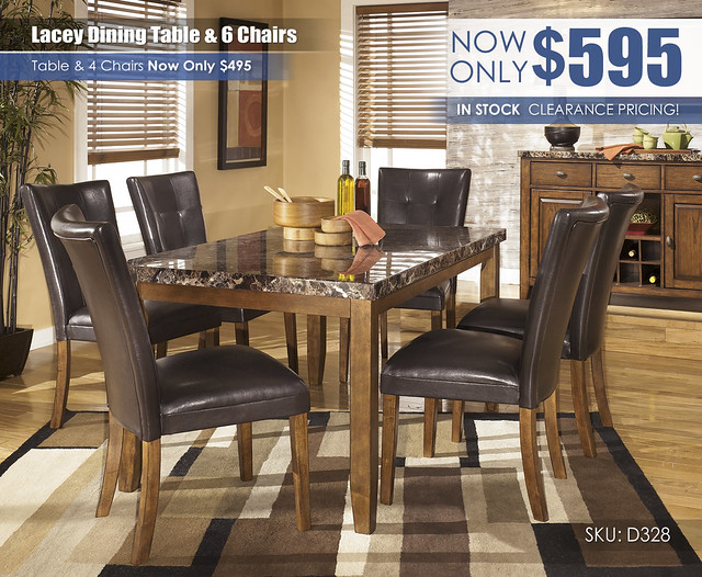 Lacey Dining Table & 6 Chairs_ClearanceUpdate D328