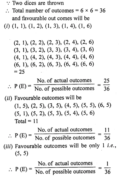 RD Sharma Class 10 Solutions Chapter 16 Probability Ex 16.1 62