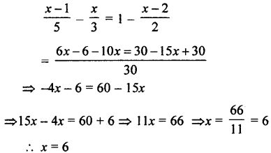 Selina Concise Mathematics class 7 ICSE Solutions - Simple Linear Equations (Including Word Problems) -c29..