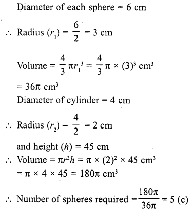 RD Sharma Class 10 Solutions Chapter 14 Surface Areas and Volumes MCQS 7