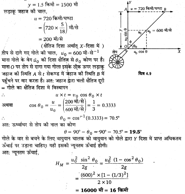 UP Board Solutions for Class 11 Physics Chapter 4 Motion in a plane ( समतल में गति) 30