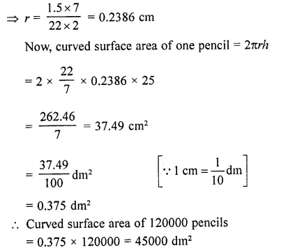 RD Sharma Class 10 Solutions Chapter 14 Surface Areas and Volumes Ex 14.1 71