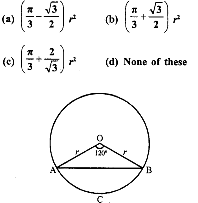 RD Sharma Class 10 Solutions Chapter 13 Areas Related to Circles MCQS -32