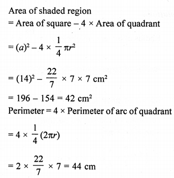 RD Sharma Class 10 Solutions Chapter 13 Areas Related to Circles Ex 13.4 - 32aa