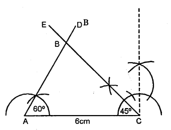 Selina Concise Mathematics Class 6 ICSE Solutions - Triangles (Including Types, Properties and Constructions) -b7