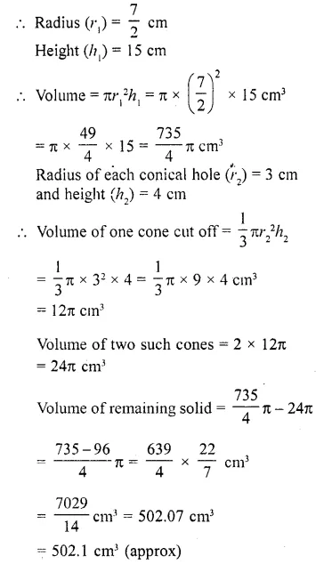 RD Sharma Class 10 Solutions Chapter 14 Surface Areas and Volumes  RV 30